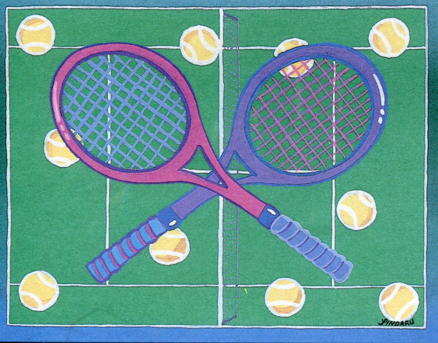 Tennis menace gifts jewelry tennis greeting cards envelopes 8 crossed racquets m4hsunfo Choice Image